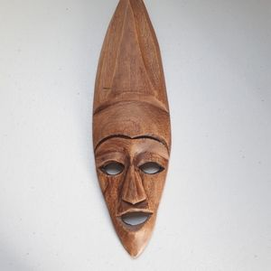 Teak, Hand Crafted Wood Wall Mask